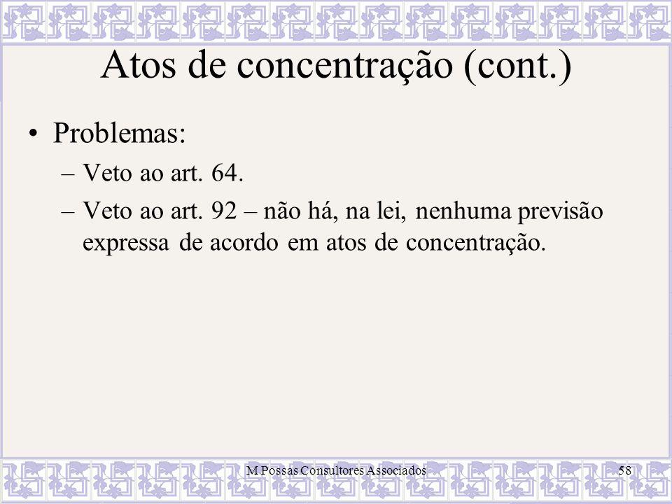Atos de concentração (cont.)