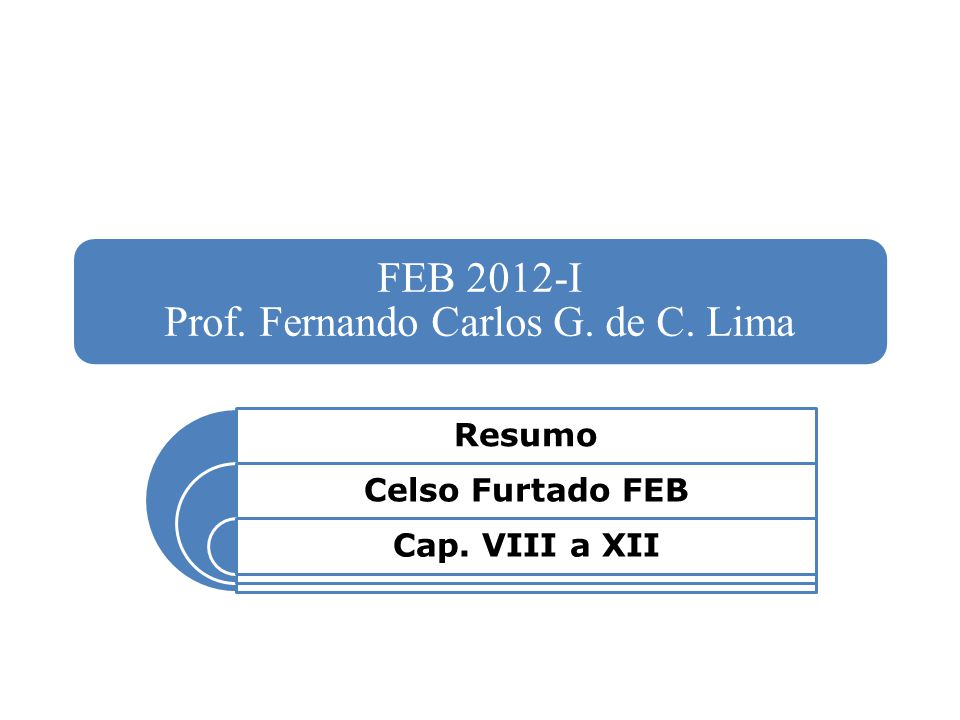FEB 2012-I Prof. Fernando Carlos G. de C. Lima