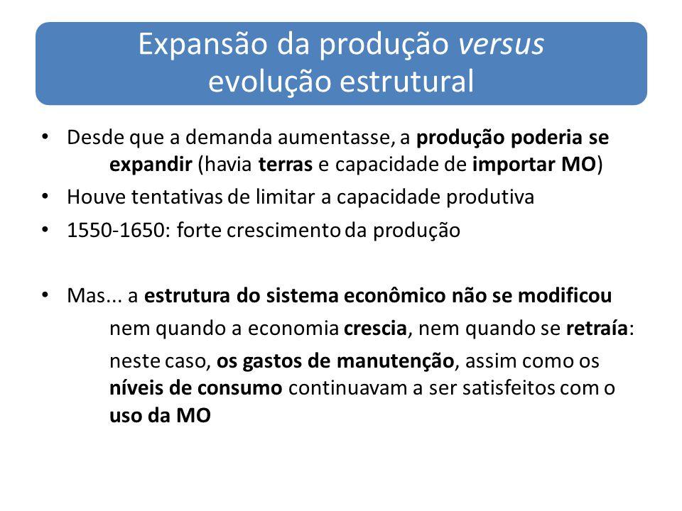 Expansão da produção versus evolução estrutural