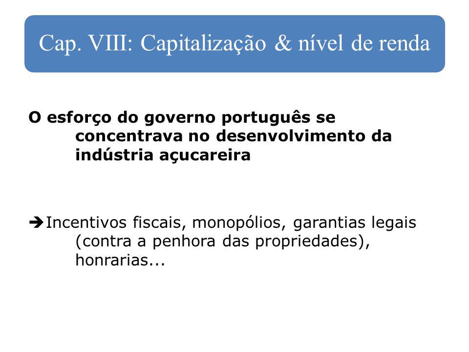 Cap. VIII: Capitalização & nível de renda