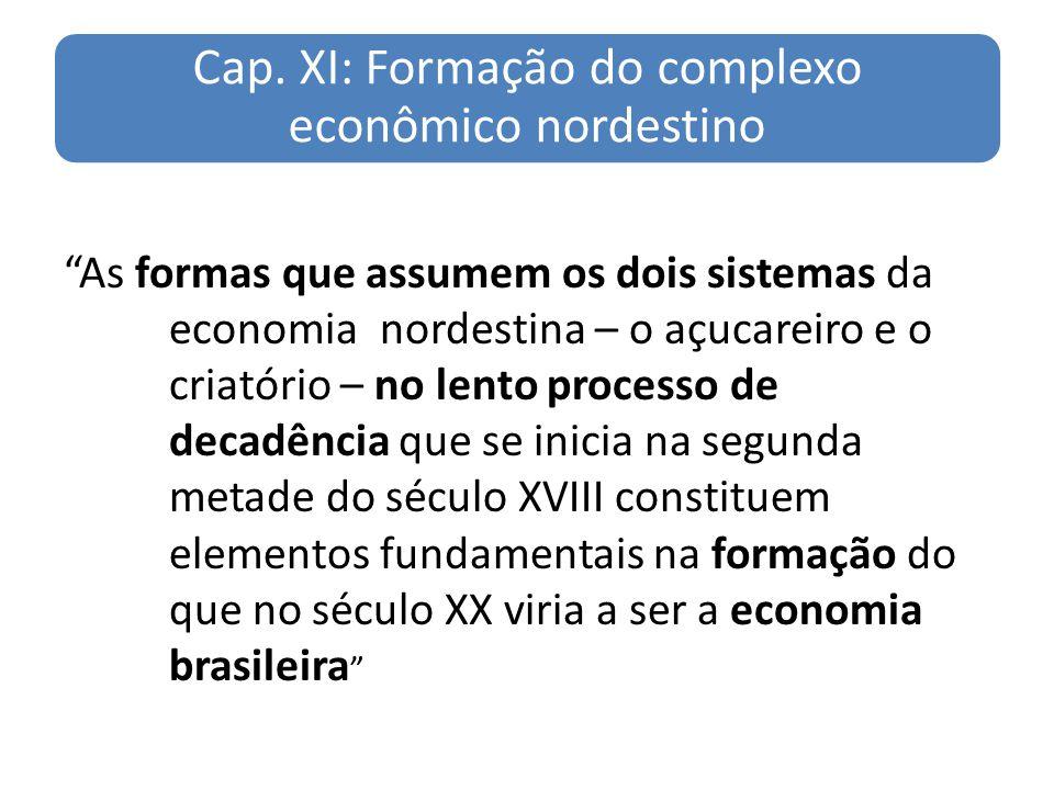 Cap. XI: Formação do complexo econômico nordestino
