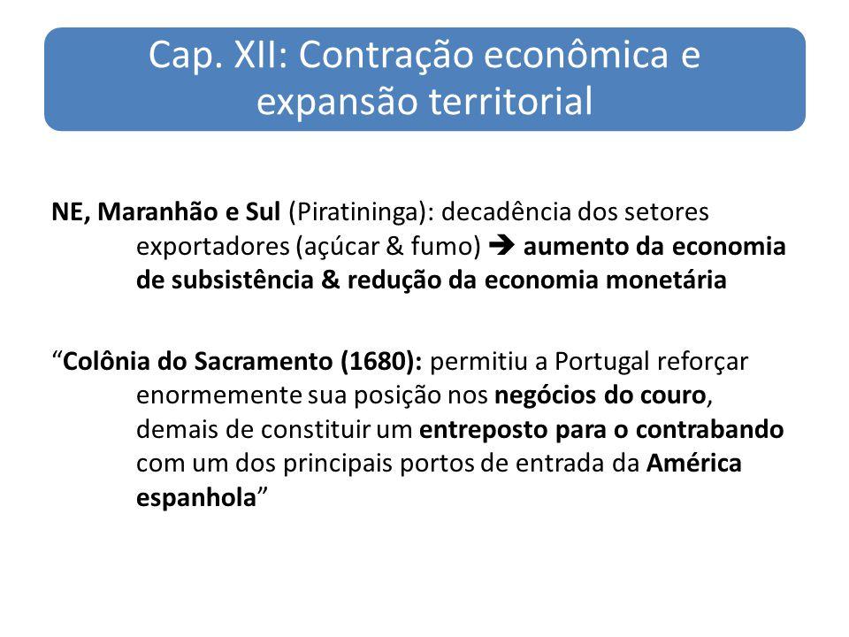 Cap. XII: Contração econômica e expansão territorial