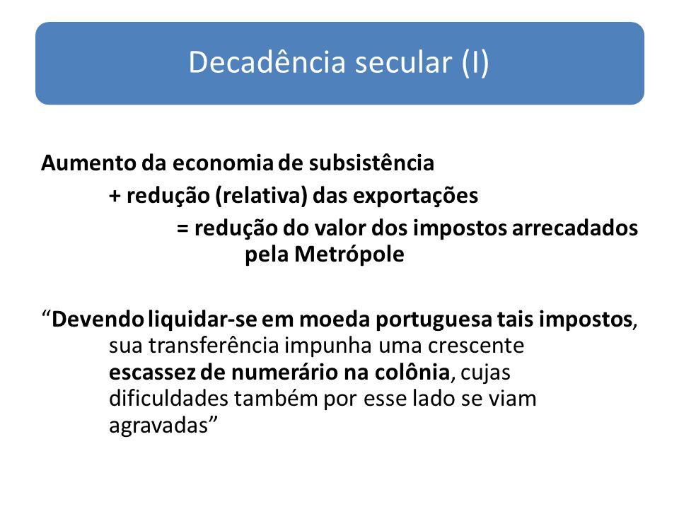 Decadência secular (I)