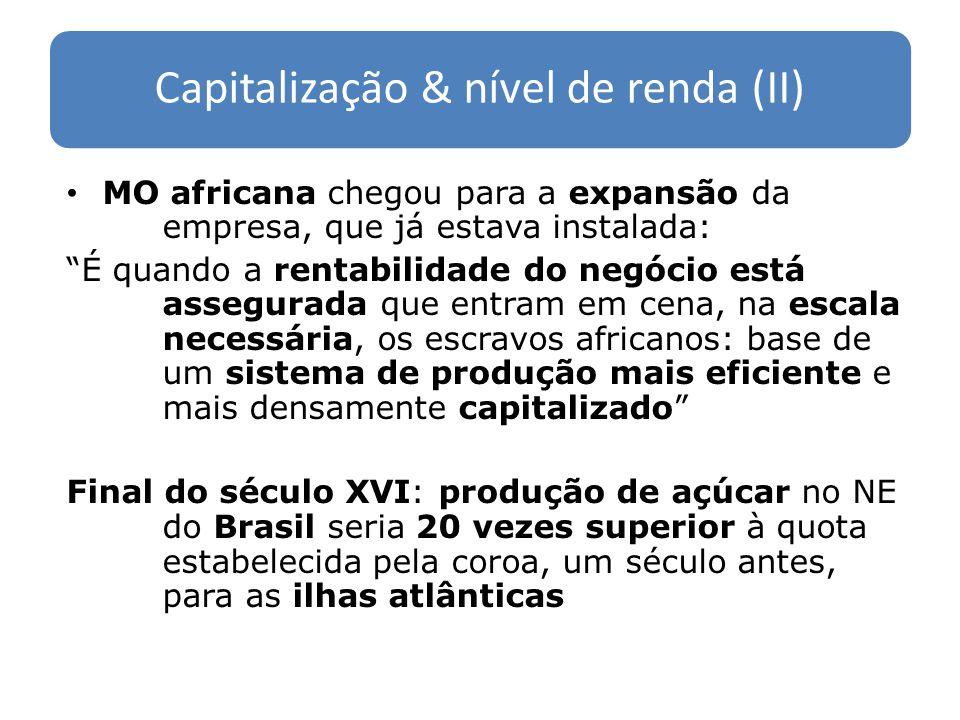 Capitalização & nível de renda (II)