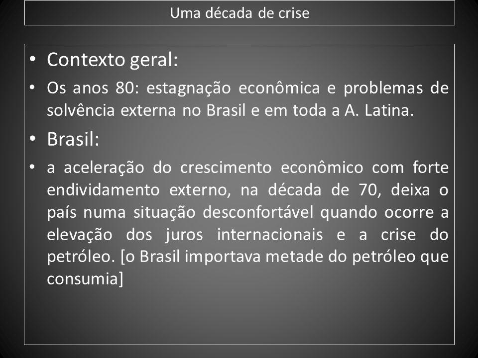 Contexto geral: Brasil: