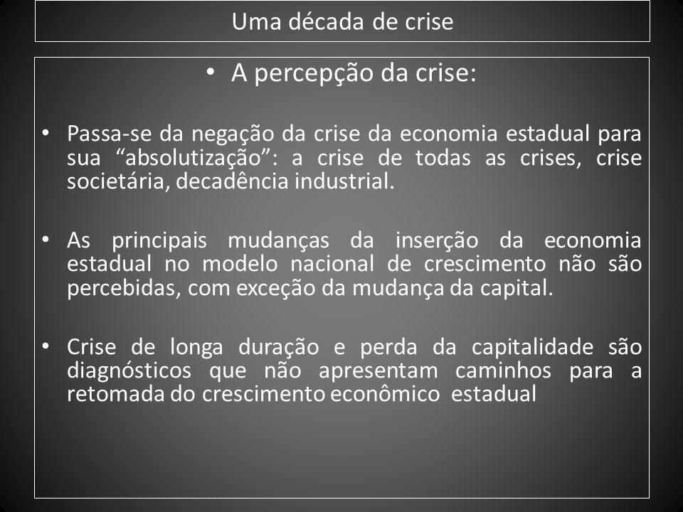 A percepção da crise: Uma década de crise