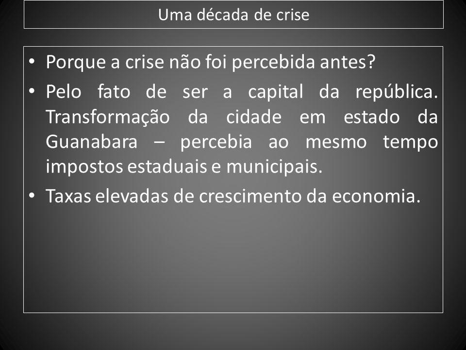 Porque a crise não foi percebida antes