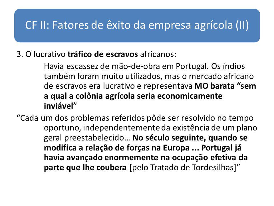CF II: Fatores de êxito da empresa agrícola (II)