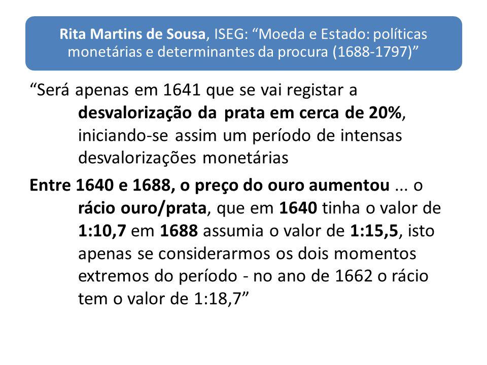 Rita Martins de Sousa, ISEG: Moeda e Estado: políticas monetárias e determinantes da procura (1688-1797)