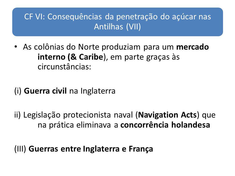 CF VI: Consequências da penetração do açúcar nas Antilhas (VII)