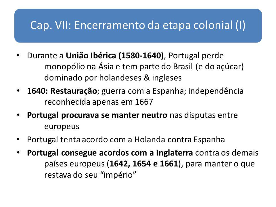 Cap. VII: Encerramento da etapa colonial (I)