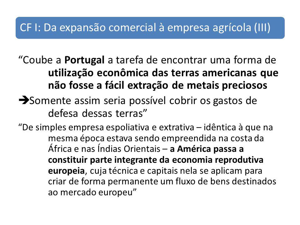 CF I: Da expansão comercial à empresa agrícola (III)