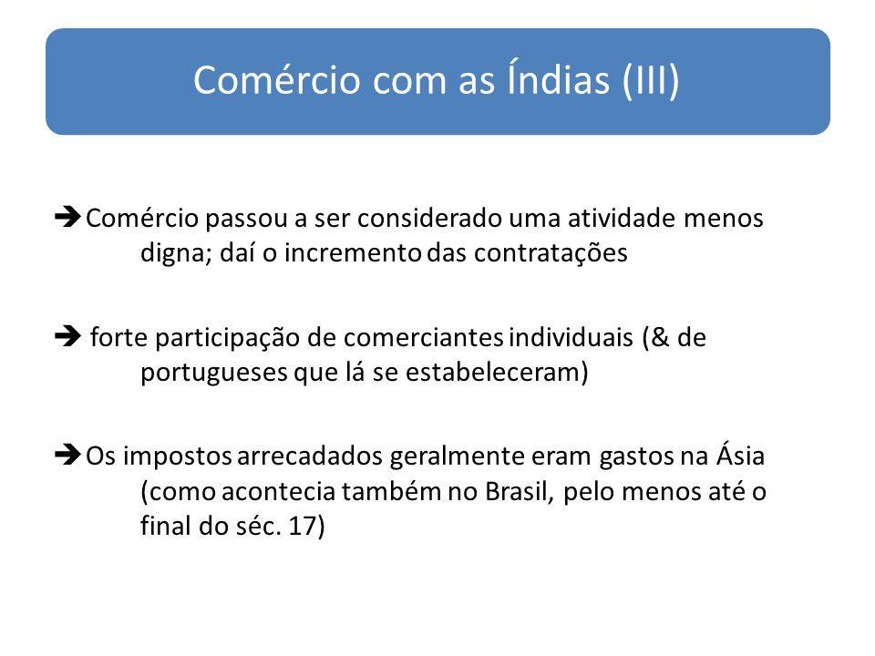 Comércio com as Índias (III)