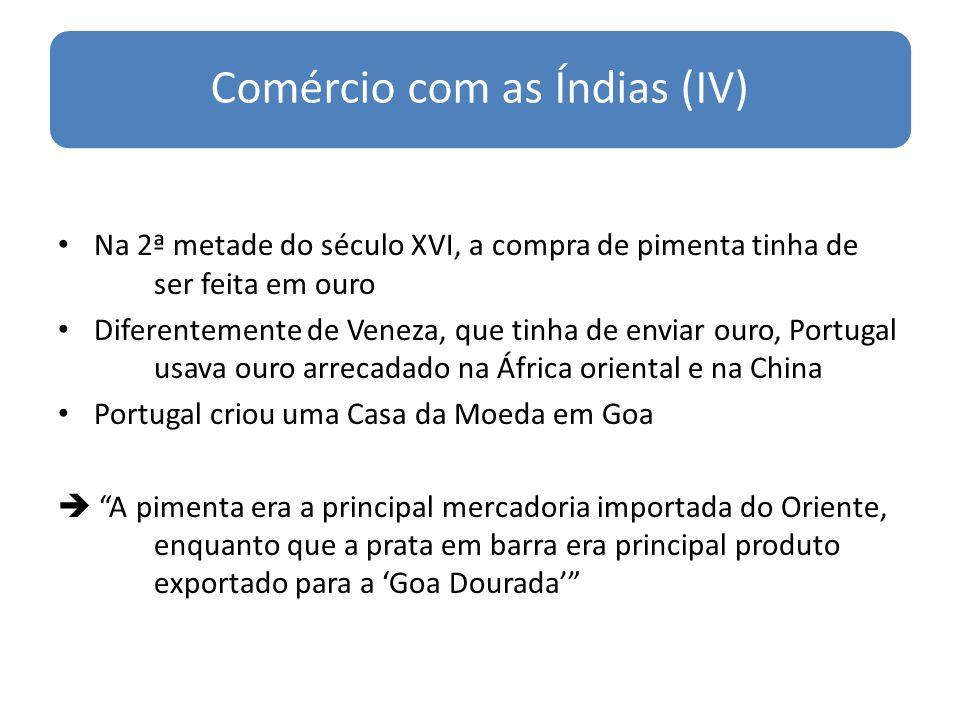 Comércio com as Índias (IV)