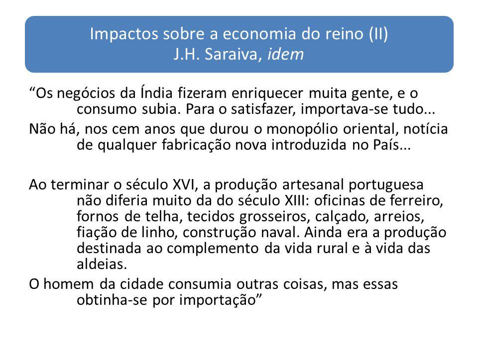 Impactos sobre a economia do reino (II) J.H. Saraiva, idem