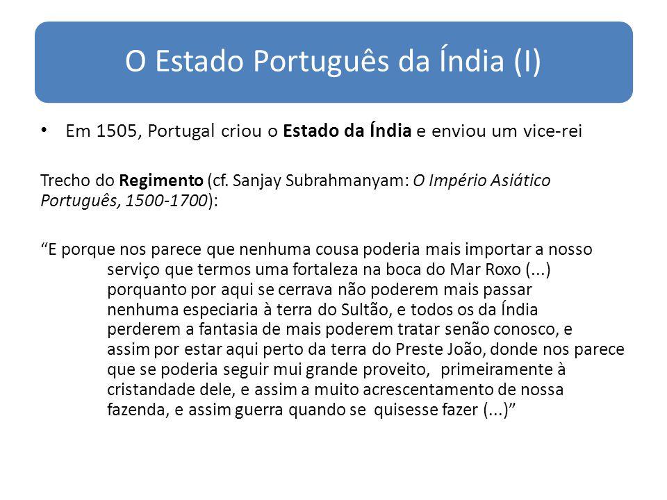 O Estado Português da Índia (I)