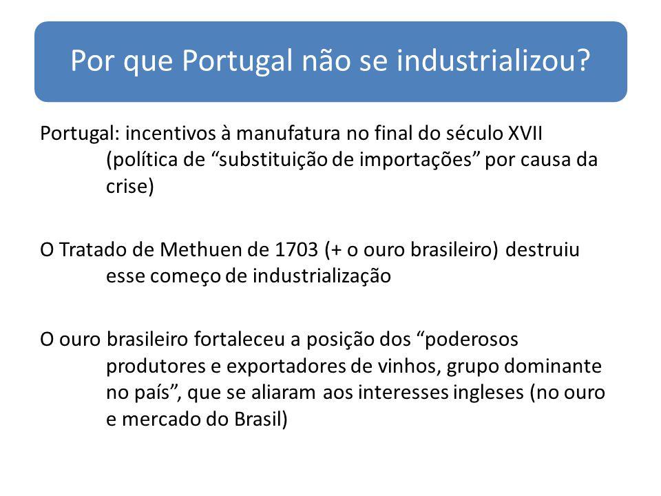 Por que Portugal não se industrializou