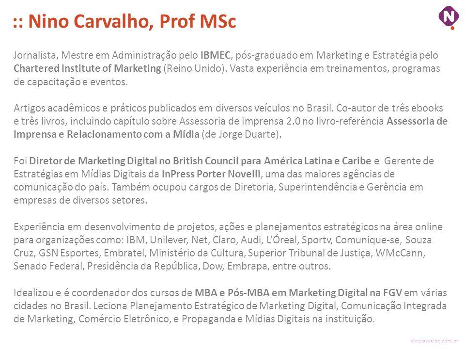 :: Nino Carvalho, Prof MSc