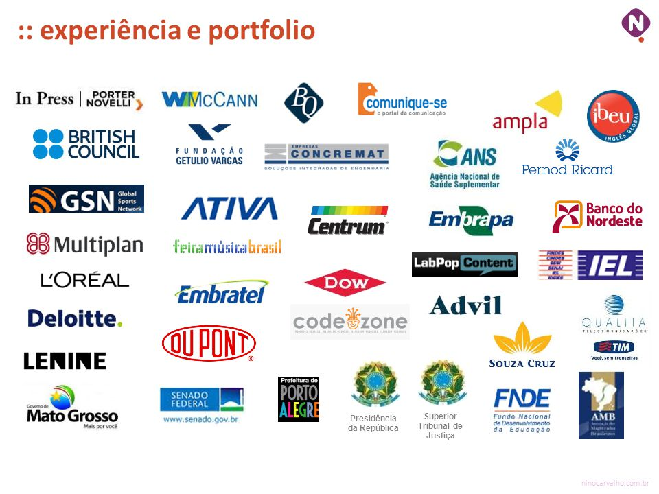 :: experiência e portfolio