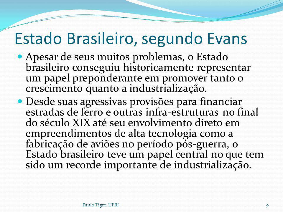 Estado Brasileiro, segundo Evans