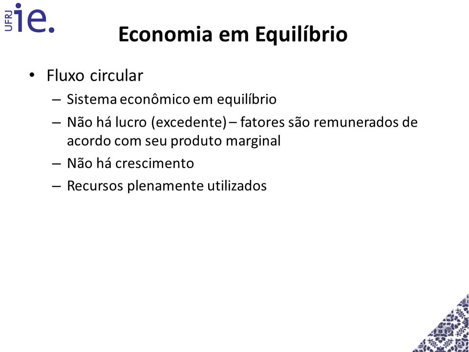 Economia em Equilíbrio