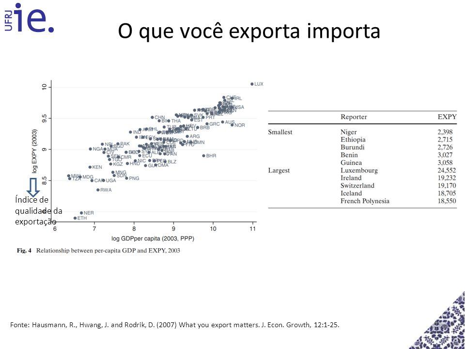 O que você exporta importa