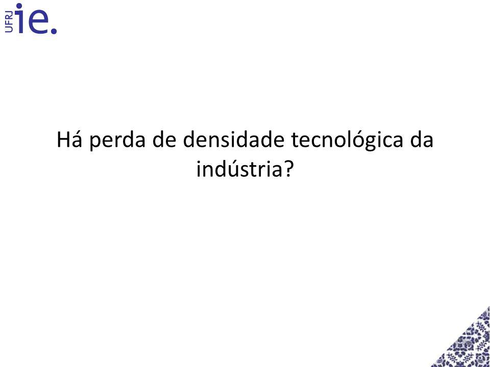 Há perda de densidade tecnológica da indústria