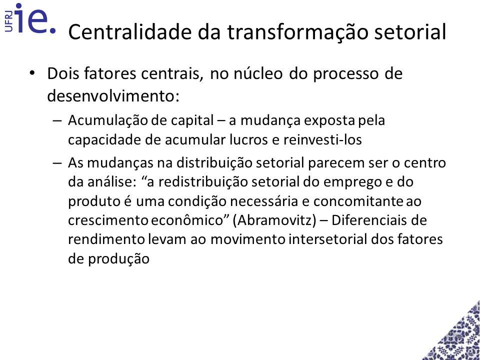 Centralidade da transformação setorial
