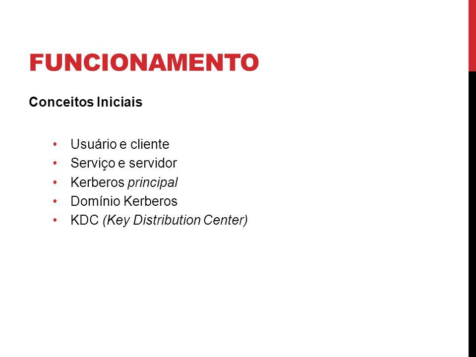 funcionamento Conceitos Iniciais Usuário e cliente Serviço e servidor