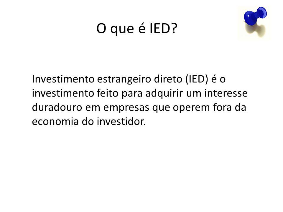 O que é IED