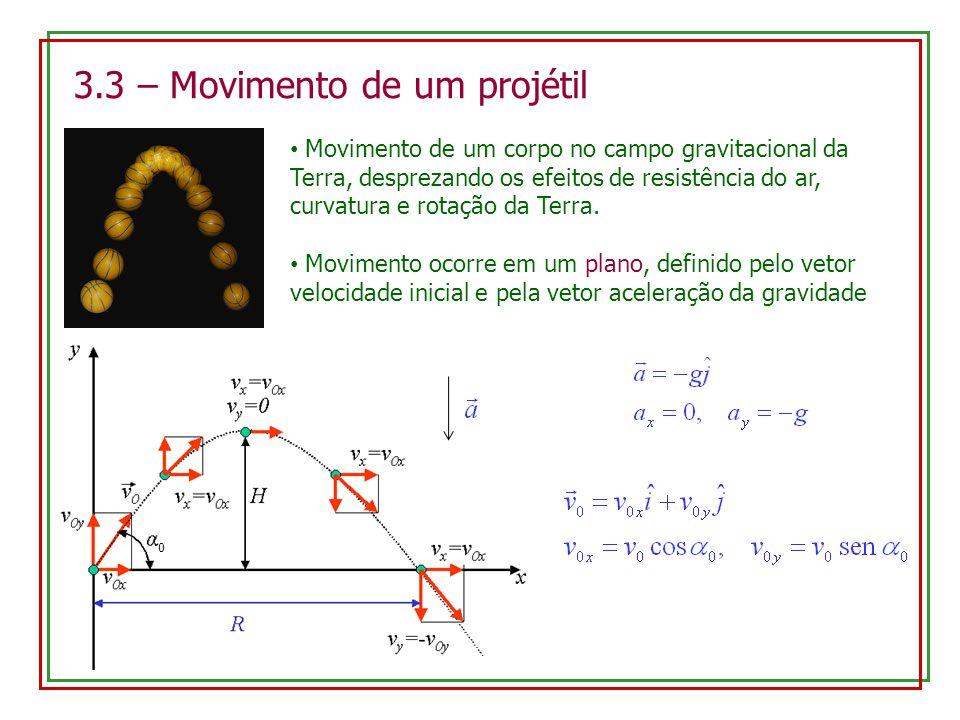 3.3 – Movimento de um projétil