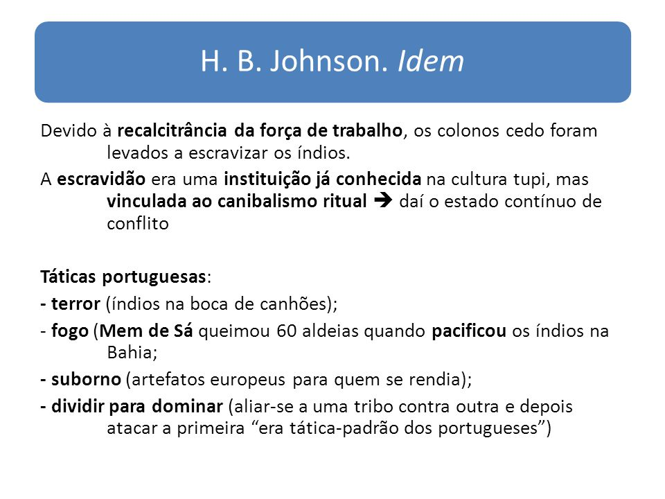 H. B. Johnson. Idem