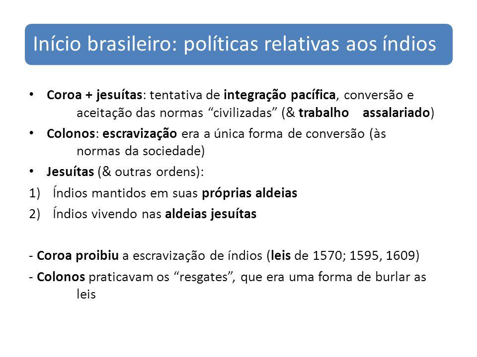 Início brasileiro: políticas relativas aos índios