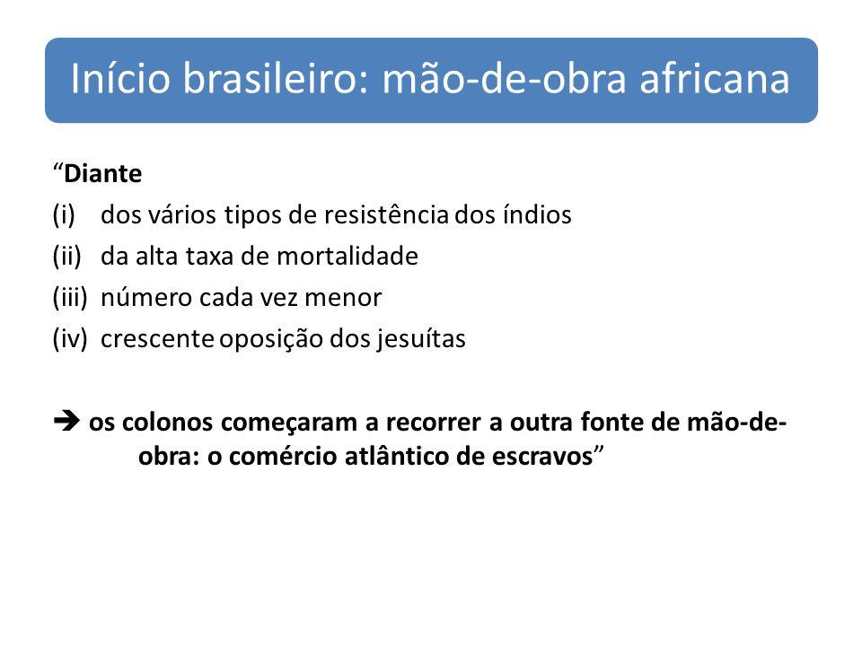Início brasileiro: mão-de-obra africana
