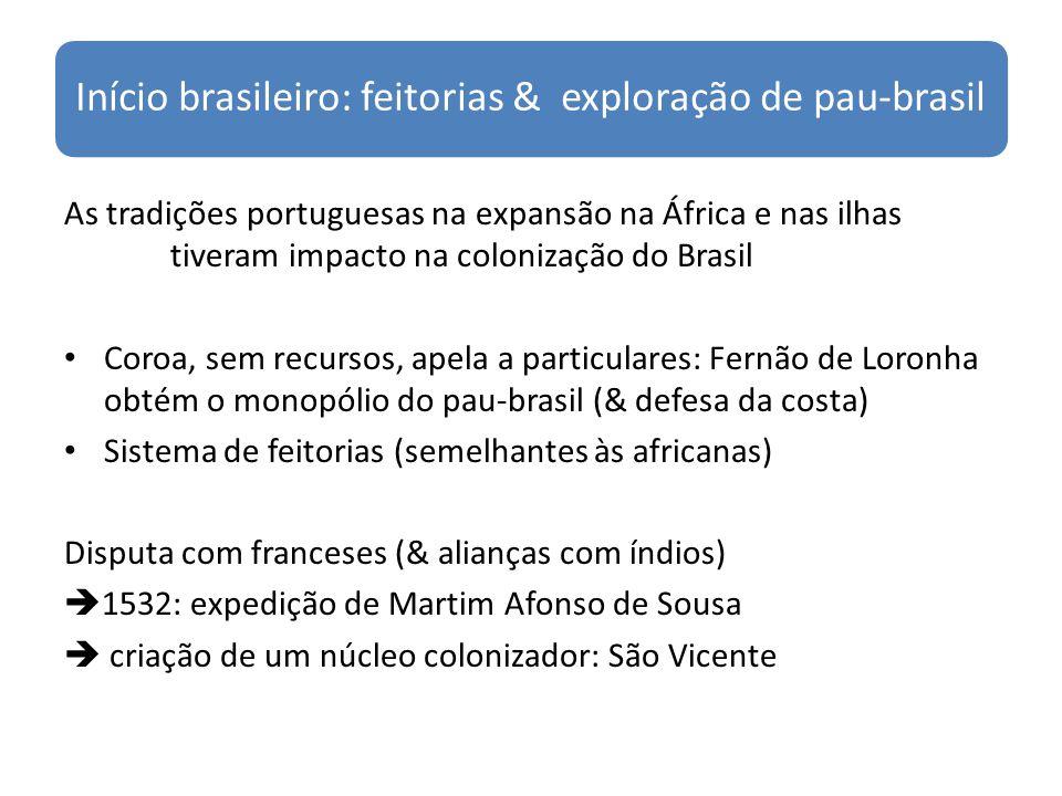 Início brasileiro: feitorias & exploração de pau-brasil