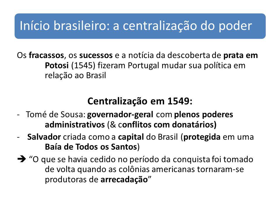 Início brasileiro: a centralização do poder