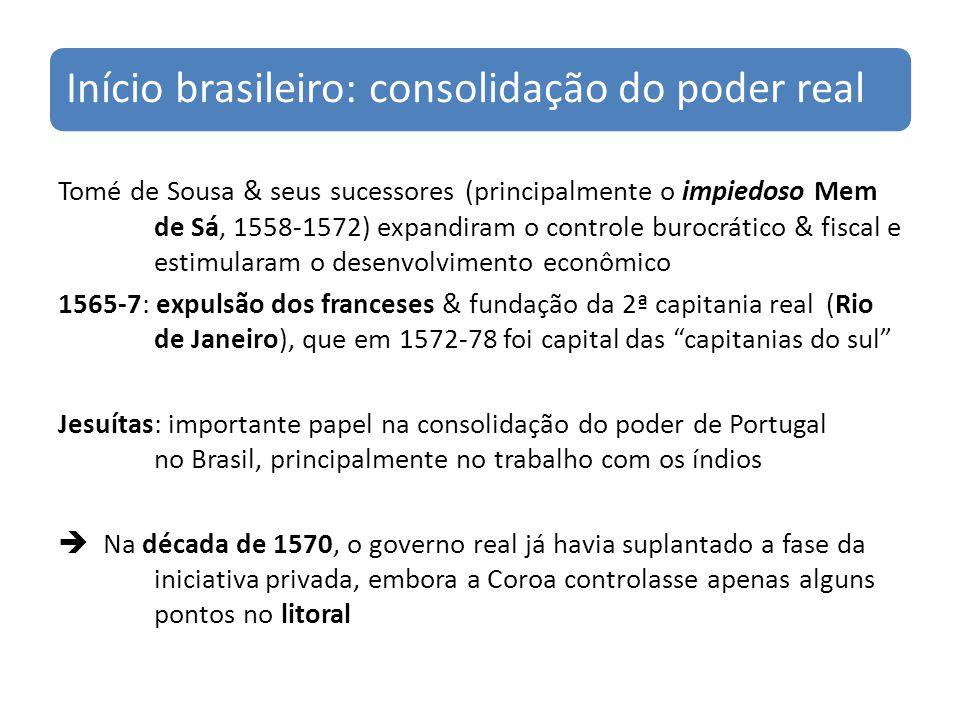 Início brasileiro: consolidação do poder real