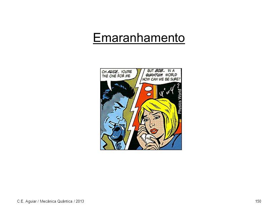 Emaranhamento C.E. Aguiar / Mecânica Quântica / 2013