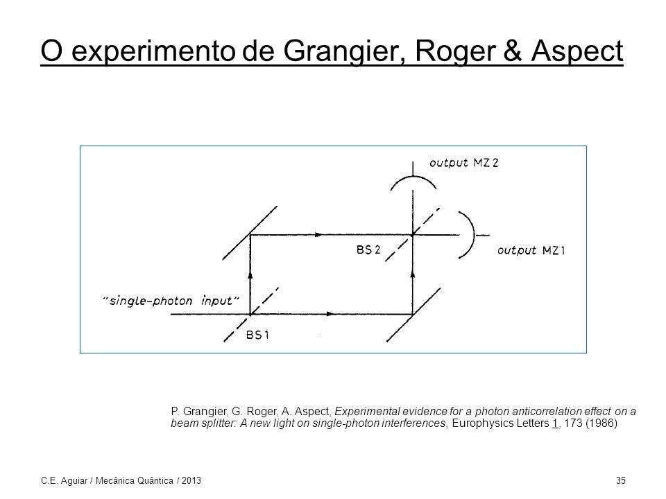 O experimento de Grangier, Roger & Aspect