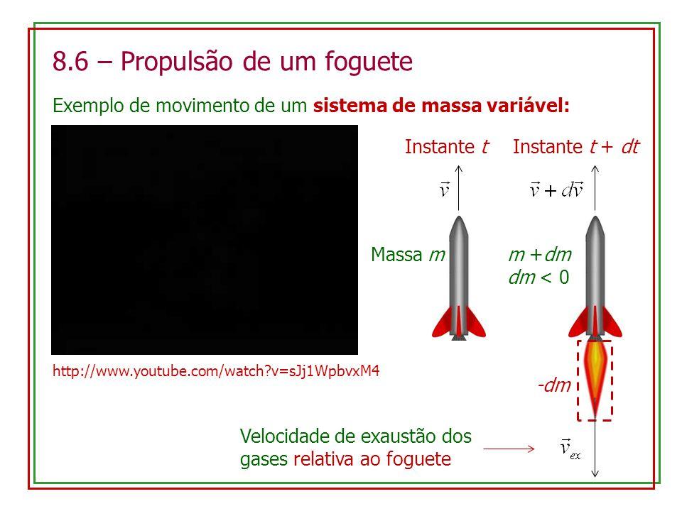 8.6 – Propulsão de um foguete