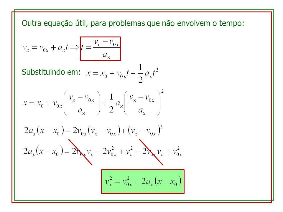 Outra equação útil, para problemas que não envolvem o tempo: