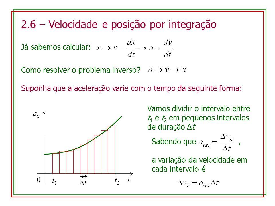 2.6 – Velocidade e posição por integração