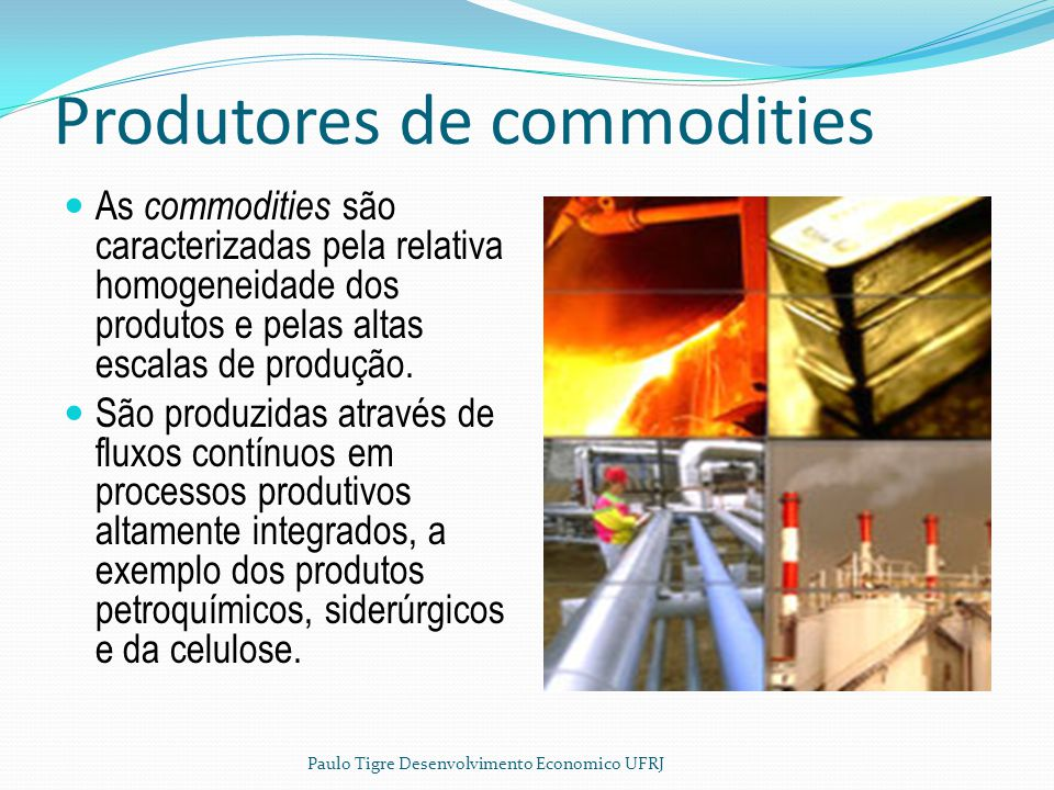 Produtores de commodities