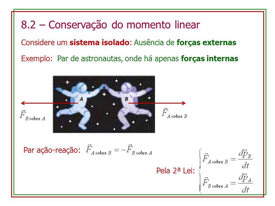 8.2 – Conservação do momento linear