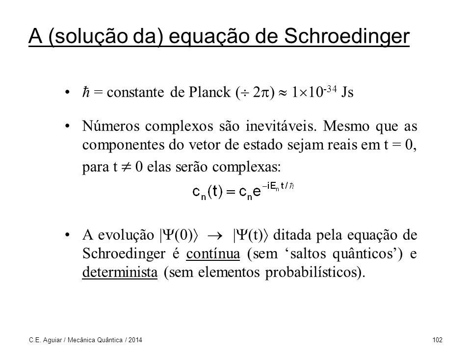 A (solução da) equação de Schroedinger