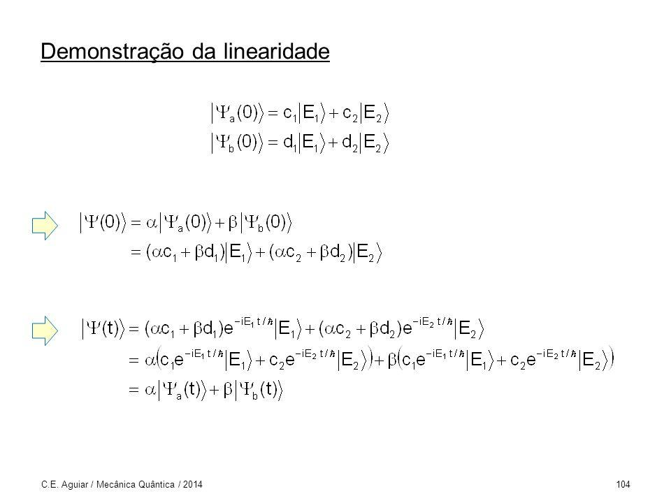 Demonstração da linearidade