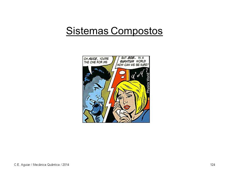 Sistemas Compostos C.E. Aguiar / Mecânica Quântica / 2014