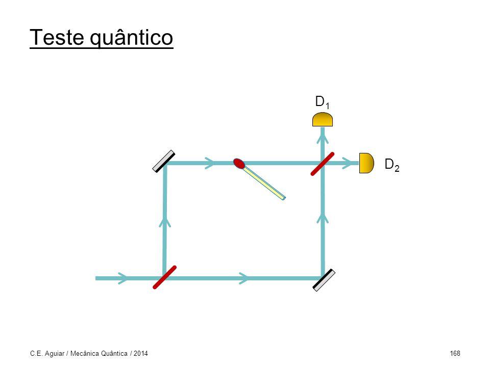 Teste quântico D1 D2 C.E. Aguiar / Mecânica Quântica / 2014