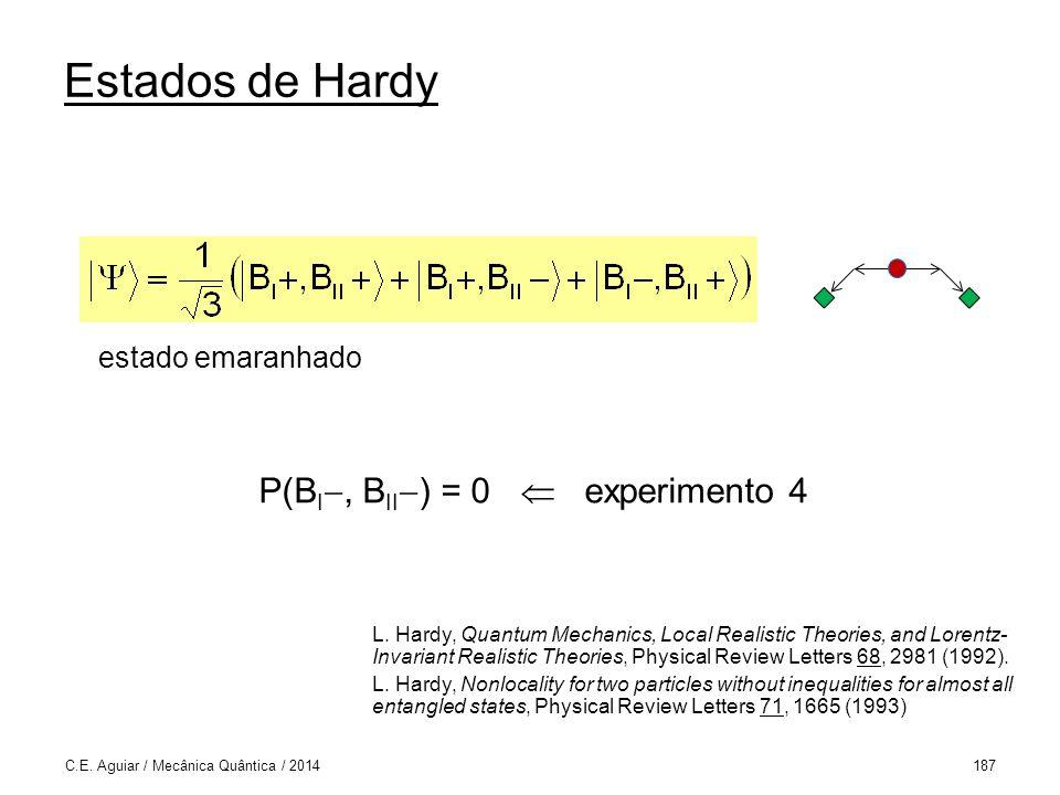P(BI, BII) = 0  experimento 4