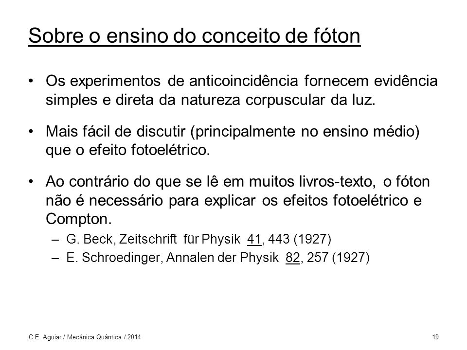 Sobre o ensino do conceito de fóton